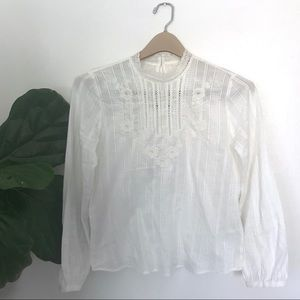 Abercrombie & Fitch Victorian Lace Boho White Top!